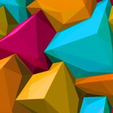 Abstract background with colorful cubes and triangular shadows for magazines, booklets or mobile phone lock screen. Abstract background with colorful cubes and royalty free illustration