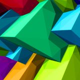 Abstract background with colorful cubes and triangular shadows for magazines, booklets or mobile phone lock screen. Abstract background with colorful cubes and Stock Photography