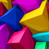 Abstract background with colorful cubes and triangular shadows for magazines, booklets or mobile phone lock screen Royalty Free Stock Photography