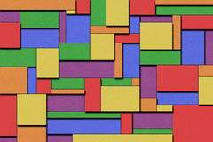 Abstract Background. A Colorful Cubist Abstract Background with Squares and Paint Texture Stock Images