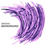Abstract background with colorful curved lines in a chaotic order. Colored lines with place for your text  on a white background Royalty Free Stock Photos