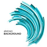 Abstract background with colorful curved lines in a chaotic order. Colored lines with place for your text  on a white background Stock Photos
