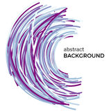 Abstract background with colorful curved lines in a chaotic order. Stock Photography