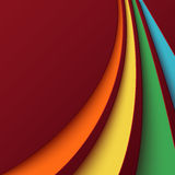 Abstract background with colorful curved lines Royalty Free Stock Images