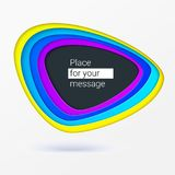 Abstract background with colorful cut out paper. Carving in paper layout. Layered bubble for speech phrase or Stock Images