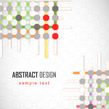 Abstract background with colorful dots.  Royalty Free Stock Photography