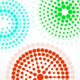 Abstract background with colorful dotted circles. Dots in circular form. Vector design backdrop stock illustration