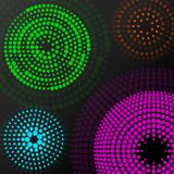 Abstract background with colorful dotted circles. Dots in circular form. Vector design backdrop vector illustration