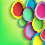 Abstract background with colorful Easter egg. Easter card with 3d Easter egg. Beautiful stylish Easter background. Vector illustration Stock Images