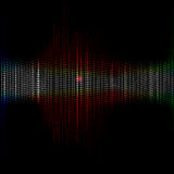 Abstract background of colorful equalizer Royalty Free Stock Photos