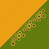 Abstract Background With Colorful Fields And Sunflowers Royalty Free Stock Photo