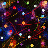 Abstract background with colorful fireworks,balls,garlands Royalty Free Stock Photography