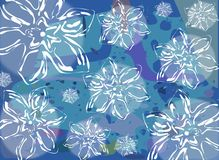 Abstract background with colorful floral fantasy. A background created with stylized flowers and a abstract pattern, suitable for any opportunity from the flyer Vector Illustration