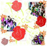 Abstract background with colorful floral fantasy Royalty Free Stock Image