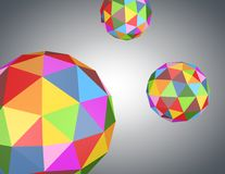 Abstract background with colorful geometric balls. Stock Images