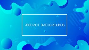 Modern abstract background.fluid shapes royalty free illustration