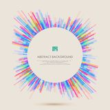 Abstract background with colorful geometric lines pattern for your business presentation. Illustration vector eps10 Stock Image