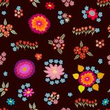 Abstract background with colorful geometric shapes. Seamless  pattern for textile design, cards and web design Stock Photo