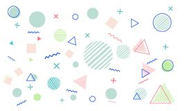 Abstract Background with Colorful Geometric Style. Vector Format, Perfect For Type of Your Project Stock Illustration