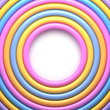 Abstract background with colorful glossy rings Stock Photo