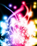 Abstract background of colorful glowing lights Stock Photos