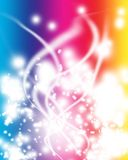 Abstract background of colorful glowing lights Royalty Free Stock Image