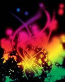 Abstract background of colorful glowing lights Royalty Free Stock Photography