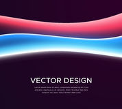 Abstract background with colorful glowing waves. Abstract vector background with light waves. Banner design with colorful glowing curves. Light painting template stock illustration