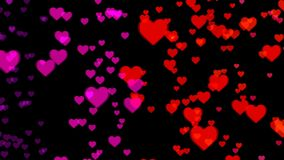 Abstract background with colorful hearts. 3d rendering Royalty Free Stock Photos