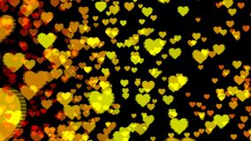 Abstract background with colorful hearts. Seamless loop stock video