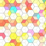Abstract background with colorful hex polygons. Abstract background with colorful red hex polygons Stock Photo