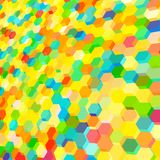 Abstract background with colorful hex polygons Royalty Free Stock Photos