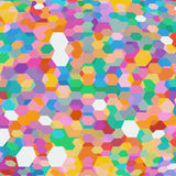 Abstract background with colorful hex polygons Royalty Free Stock Photo