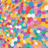 Abstract background with colorful hex polygons Royalty Free Stock Image