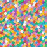 Abstract background with colorful hex polygons. Abstract background with stained glass hex polygons Stock Image