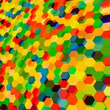 Abstract background with colorful hex polygons. Abstract background with stained glass hex polygons Stock Photo