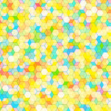 Abstract background with colorful hex polygons Stock Photography
