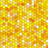 Abstract background with colorful hex polygons Stock Images