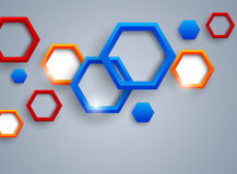 Abstract background with hexgaons. Abstract background with colorful hexagons royalty free illustration