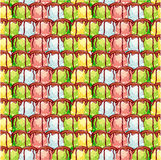 Abstract background with colorful ice cream balls and chocolate. Raster clip art royalty free illustration