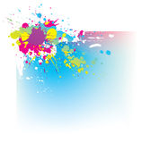Abstract background with colorful ink splas. Hes stock illustration