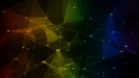 Abstract background colorful iridescent rainbow random digital data network