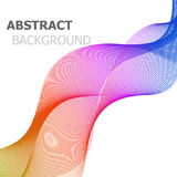 Abstract background with colorful line wave Stock Photo