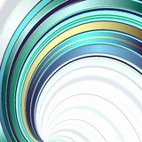 Abstract background with colorful lines. Abstract crossed colorful deformed lines on a white background stock illustration