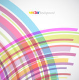 Abstract background with colorful lines. Vector art Royalty Free Stock Images