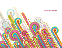 Abstract background with colorful lines - light version. Vector art Stock Photo