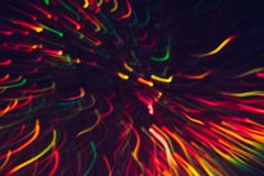 Abstract background of colorful lines in motion Stock Photo