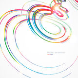 Abstract background with colorful lines. Background with colorful multicolored curled lines stock illustration