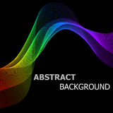 Abstract background with colorful lines wave Stock Photo