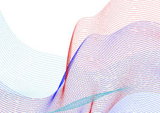Abstract background with colorful lines. On white, vector illustration Royalty Free Stock Photography